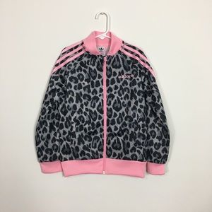 Girls adidas animal printed track jacket